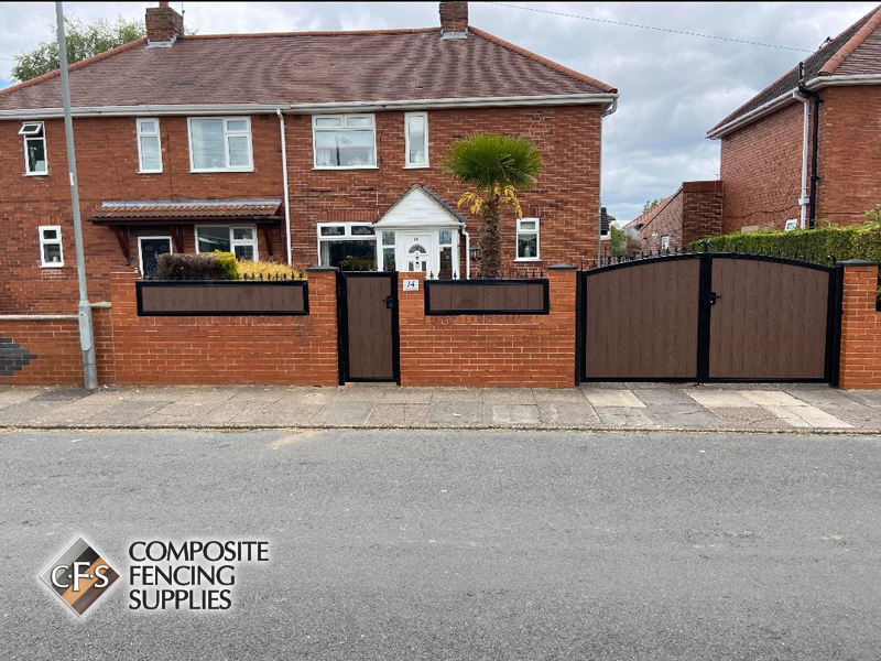 Brick and composite fencing design