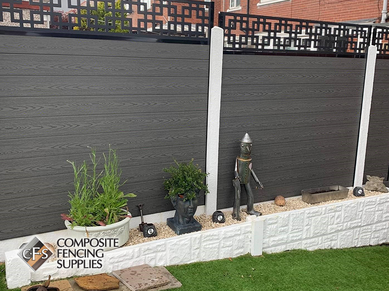Composite fencing garden design